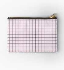 Pink Grid Studio Pouch