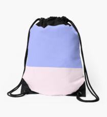 Blue and Pink Color Block Drawstring Bag
