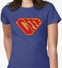 Geek SuperEmpowered (Red and Gold) Women's Fitted T-Shirt