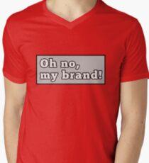 Oh nein, meine Marke! T-Shirt mit V-Ausschnitt