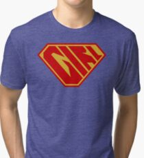 Girl SuperEmpowered (Red and Gold) Tri-blend T-Shirt