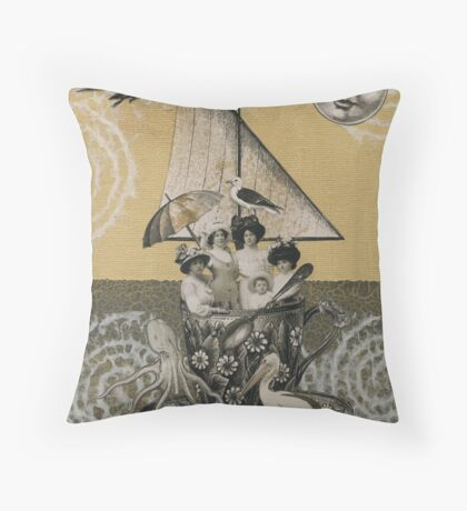 Teacup Travelers Throw Pillow