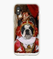 French Bulldog Art - Les Comediens italiens iPhone Case
