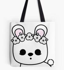 Cute Pet Bunny Blanc de Hotot with Flower Crown Original Tote Bag