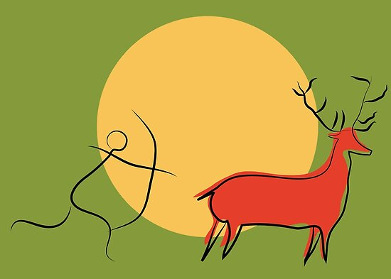 «Deer and Haunter» de Ruth Isern