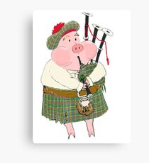 Bagpipe Pig Canvas Print