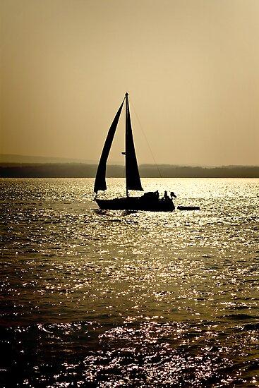 Silhouette Yacht by Richard Hamilton-Veal