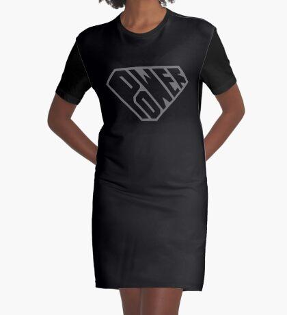 SuperEmpowered (Black on Black) Graphic T-Shirt Dress