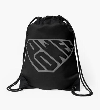 SuperEmpowered (Black on Black) Drawstring Bag