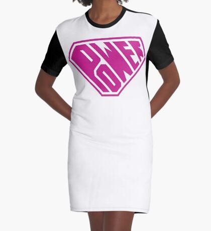SuperEmpowered (Pink) Graphic T-Shirt Dress