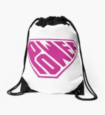 SuperEmpowered (Pink) Drawstring Bag