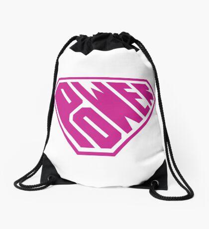 SuperEmpowered (Pink) Drawstring Bag