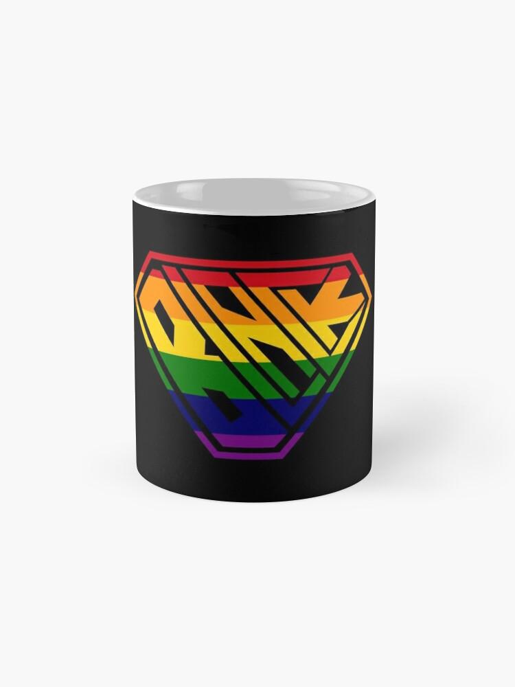 Alternate view of Black SuperEmpowered (Rainbow) Classic Mug