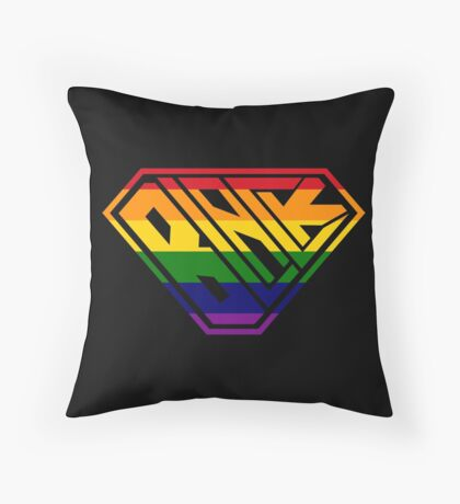 Black SuperEmpowered (Rainbow) Throw Pillow