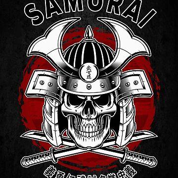 Samurai Skull by DCornel