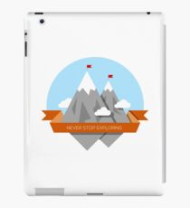 Mountain illustration. Never stop exploring iPad Case/Skin
