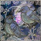 Two Bluebirds by Lynnette Shelley
