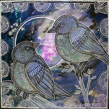 Two Bluebirds by LynnetteShelley