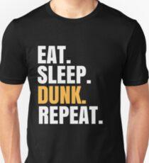 Eat Sleep Dunk Repeat Unisex T-Shirt