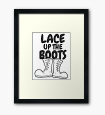 Lace Up The Boots Framed Print