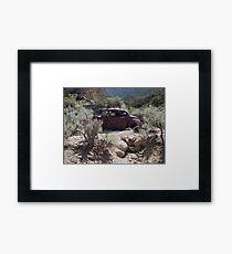Old Rusty Antique Car in Desert  Framed Print