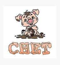 Chet Piggy Photographic Print