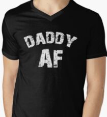 14c99b20 Daddy AF Funny Dad Shirt Father's Day Gift Men's V-Neck ...