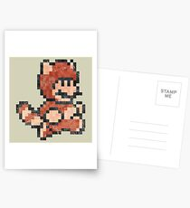Super Mario Tanooki Vintage Pixels Postcards