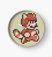 Super Mario Tanooki Vintage Pixels Clock