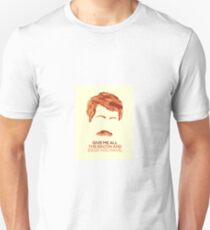 Ron Swanson (Nick Offerman) - A Breakfast Hero Unisex T-Shirt