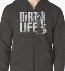 DIRT LIFE - Heavy Equipment Operators Zipped Hoodie