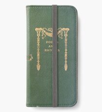 Antique Poetry Book Cover iPhone Wallet/Case/Skin