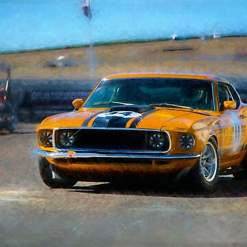 Orange Mustang by StuartRow