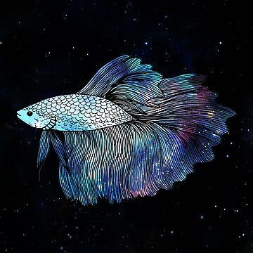 Betta Fish Galaxy by julieerindesign