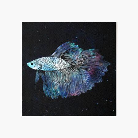 Betta Fish Galaxy Art Board Print