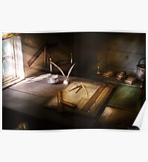 The drafting table Poster