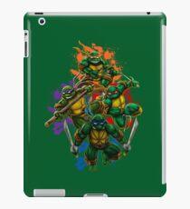 Teenage Mutant Ninja Turtles Colorful Splatter Background Illustration iPad Case/Skin
