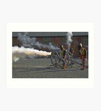 Cannon Flame Art Print