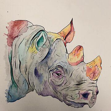 Rainbow Rhino de AlexisCreations