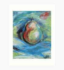 Abstract Pretty Petite Pear Art Print
