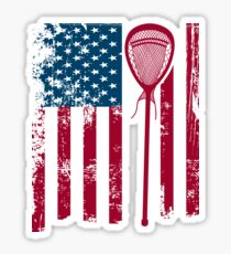 American Flag lacrosse stick | lacrosse player gift | game day shirt | lacrosse accessories | lacrosse shirt | lacrosse | lacrosse coach | lacrosse coach gift | lacrosse mom | lacrosse dad Sticker
