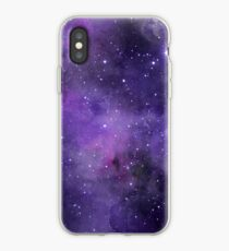 Amethyst watercolor galaxy  iPhone Case