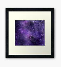 Lámina enmarcada Galaxia de acuarela amatista