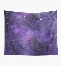 Amethyst watercolor galaxy  Wall Tapestry