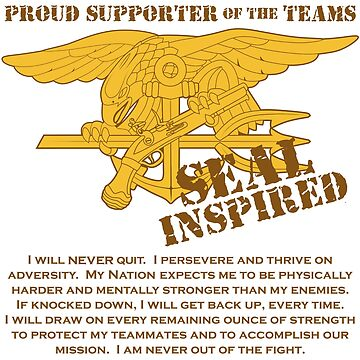 Navy SEAL Inspired with Creed by jcmeyer