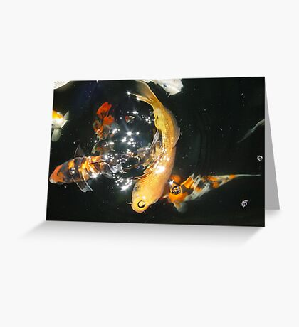 Koi Universe Greeting Card