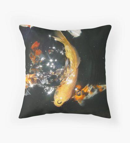 Koi Universe Throw Pillow