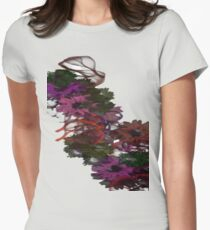 Soft Flowers Womens Fitted T-Shirt