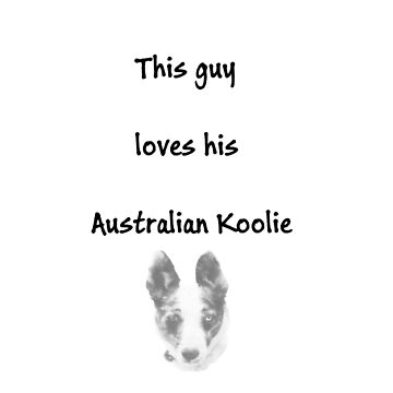 This guy loves his Australian Koolie - black by KoolieClubAust