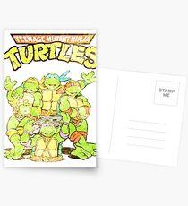 Postales Tortugas Ninja Retro
